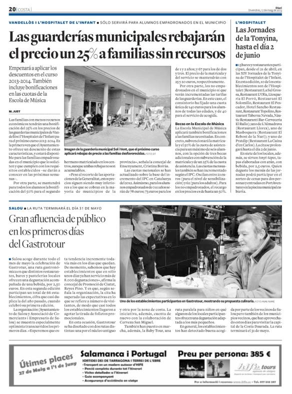 170513 Diari de Tarragona