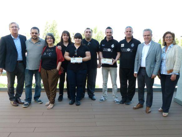 Premiados - autoridades y San Miguel